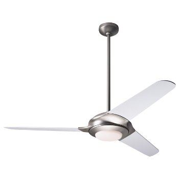 Shown in Gloss White finish with White blades, Halogen light