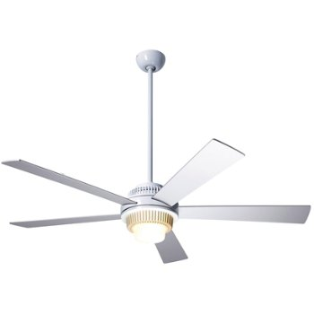 Shown in Gloss White finish with Aluminum blades