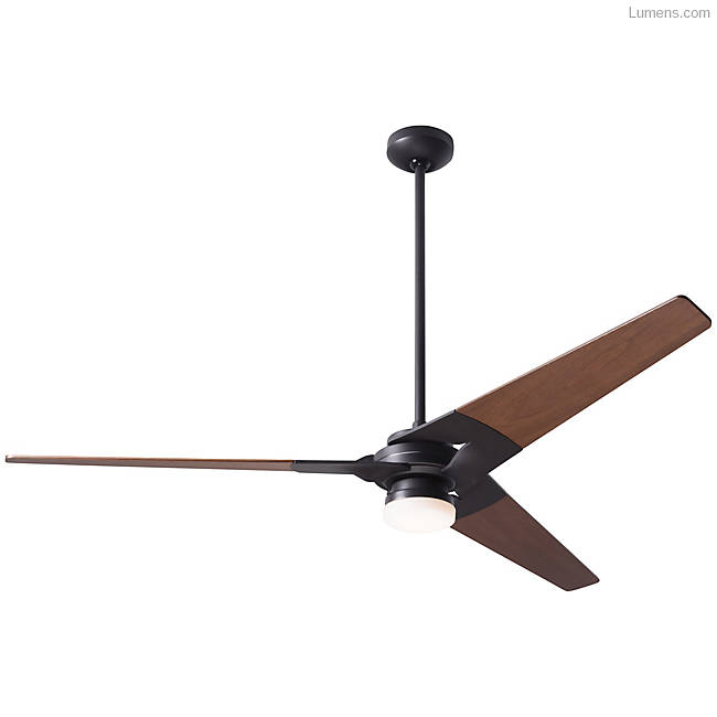 Bright ceiling fan in Nickel finish with Nickel blade finish / 52 inch / LED