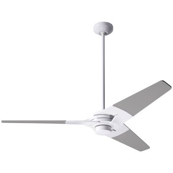 Shown in Gloss White finish with Nickel blade finish, 52 inch, No Light