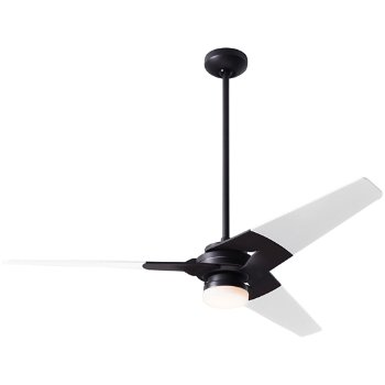 Shown in Dark Bronze finish with White blade finish, 52 inch, LED