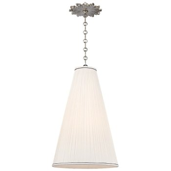 Shown in Natural shade, Polished Nickel finish, Small size