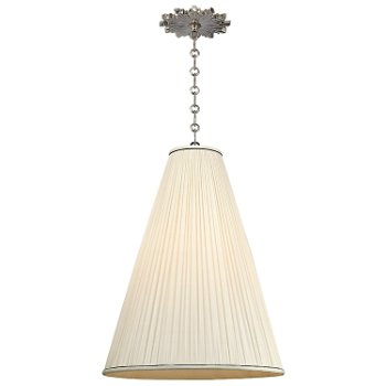 Shown in Natural shade, Polished Nickel finish, Large size