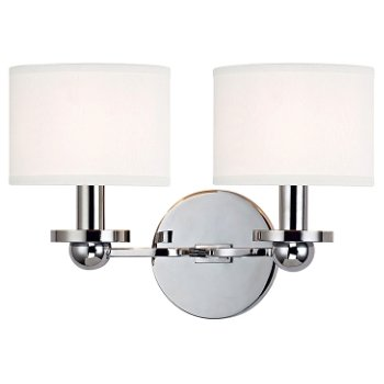 Shown in Polished Chrome finish, White shade