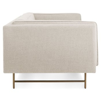 Shown in Sanford Linen color, Brass finish