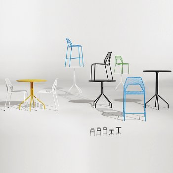 Hot Mesh Bar Stool with Hot Mesh Chair, Hot Mesh Counter Stool, Hot Mesh Bar Table and Hot Mesh Cafe Table