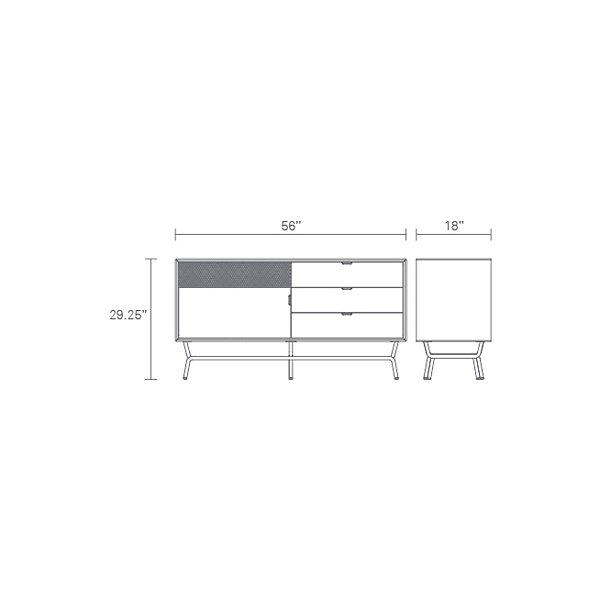Dang 1 Door/3 Drawer Console