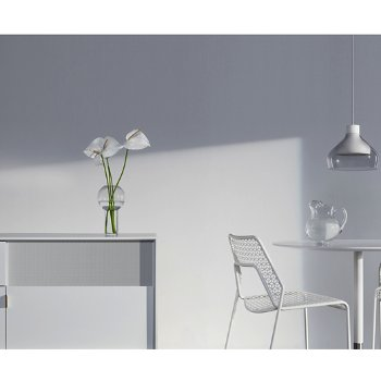 Shown in White, Detail shot with Hot Mesh Chair, Sprout Cafe Table and Trace 4 Pendant Light