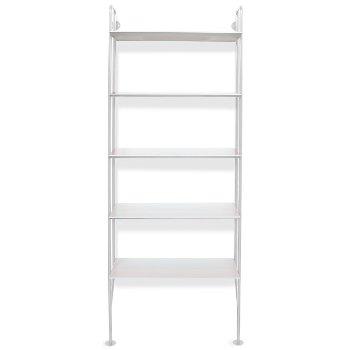 Shown in White Finish, White shelves