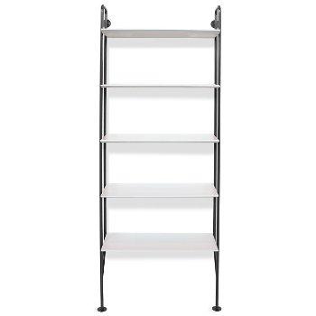 Shown in Slate finish, White shelves