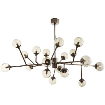 Shown in Brown Nickel finish with Smoke Glass
