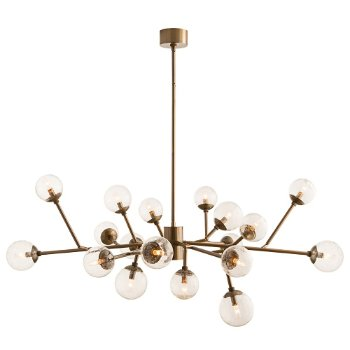 Shown in Vintage Brass finish with Seedy Glass