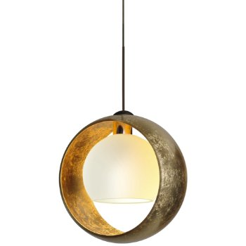 Shown in Bronze finish, Gold with Gold Inside shade