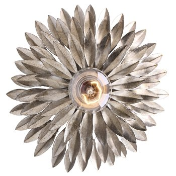 Shown in Antique Silver, Wall Sconce