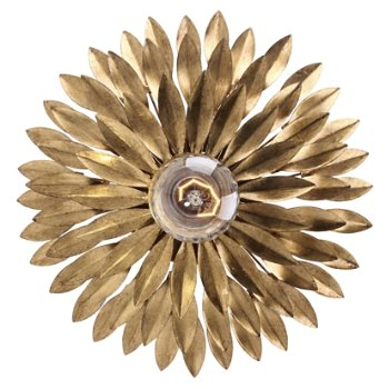 Shown in Antique Gold, Wall Sconce