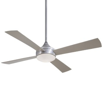 Shown in Brushed Aluminum with Silver Fan Body and Blade Finish