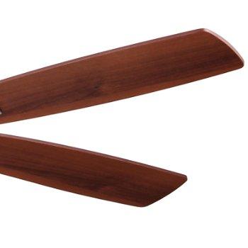Shown in Brushed Nickel and Medium Maple/Dark Walnut Finish Blades