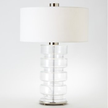 Clear Belted Table Lamp