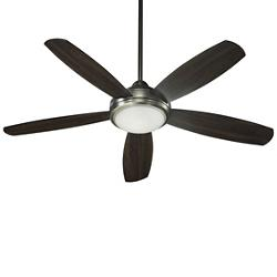 Colton Ceiling Fan (Antique Silver/Walnut) - OPEN BOX RETURN