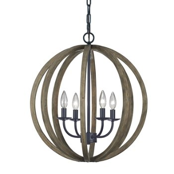 Shown in Weathered Oak Wood with Antique Forged Iron finish, Medium size