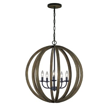 Shown in Weathered Oak Wood with Antique Forged Iron finish, Large size