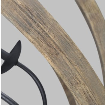 Shown in Weathered Oak Wood with Antique Forged Iron finish