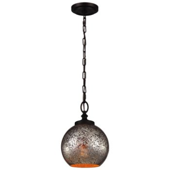 Shown in Oil Rubbed Bronze with Brown Mercury Plating