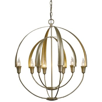 Shown in Soft Gold finish, 8 Light