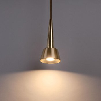 Shown in Brushed Brass finish