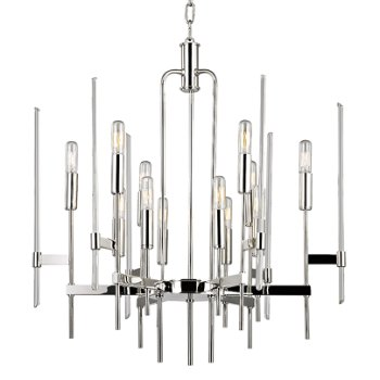 Shown in Polished Nickel finish, 12 Light option