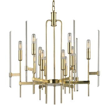 Shown in Aged Brass finish, 12 Light option