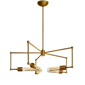 Shown in Brushed Brass finish, Retro Tube option