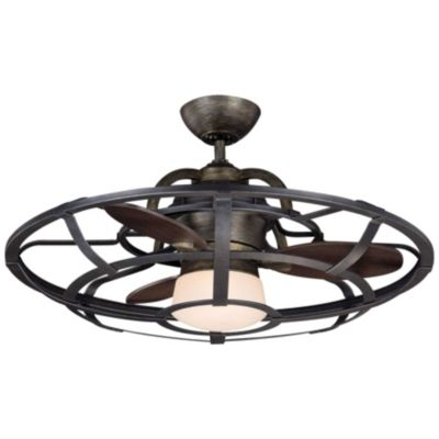 Alsace Caged Ceiling Fan - Caged Ceiling Fans Industrial Style Caged Fans At Lumens.com