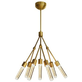 Shown in Brushed Brass with Retro Tube bulbs