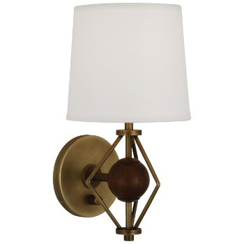 Shown in Antique Brass with Walnut Accents