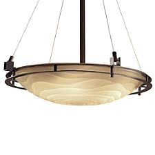 Porcelina Metropolis Round Bowl Pendant Light