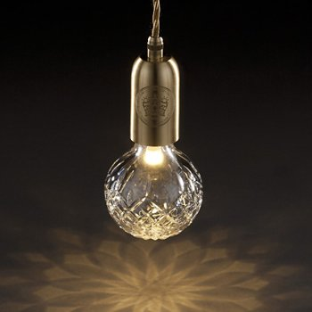 Shown in Clear shade, Brushed Brass finish