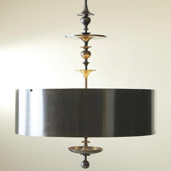 Turned Bronze Drum Pendant