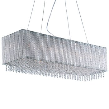 Shown in Polished Chrome finish, Crystal shade