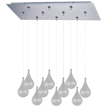 Larmes Rectangular Multi-Light Pendant