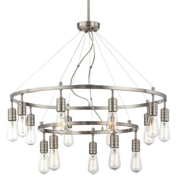 Downtown Edison 2-Tier Chandelier