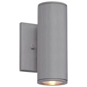 Shown in Brushed Aluminum finish, Small size