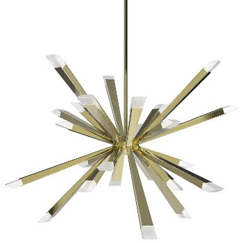 Shown in Brushed Brass finish, 29 inch