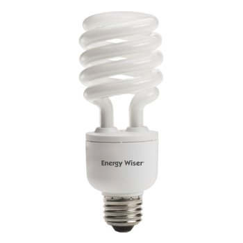 23W 120V T3 E26 Dimmable Spiral CFL Bulb