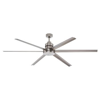 Shown in Brushed Polished Nickel finish with Silver Aluminum Blades