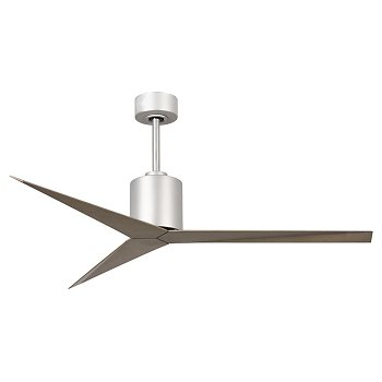 Shown in Brushed Nickel finish and Grey Ash blades