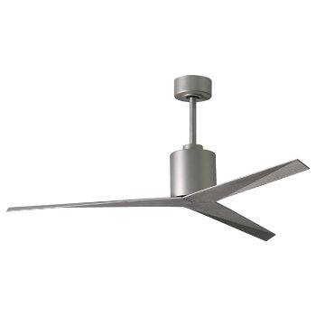 Shown in Brushed Nickel finish, Barn Wood blades
