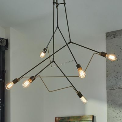 cast chandelier iron with reclaimed counter weight image