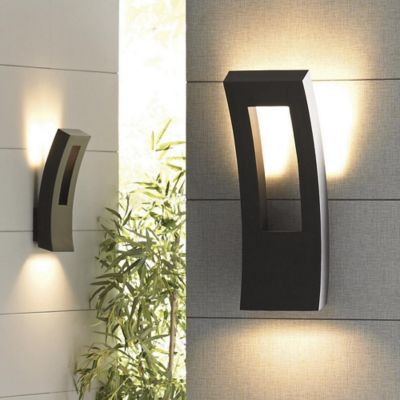 Outdoor lighting modern outdoor light fixtures at for Contemporary exterior wall lights